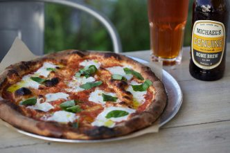 Margherita pizza and a Home Brew please!