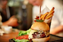 The Cypress Burger in all its glory on the pass.