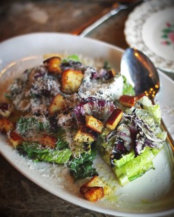 I like a warm lunch, and the Grilled Romaine Salad satisfied both my craving for heat and a desire for greens. Bravo!