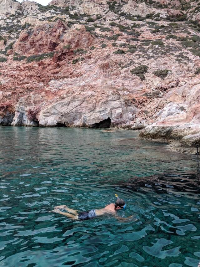 Milos snorkeling