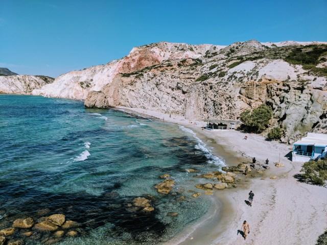 Agean Sea with beach.