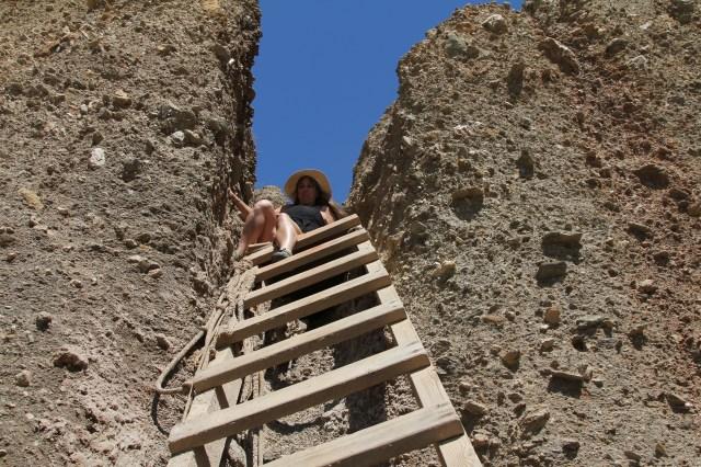 Climbing down to the Beach