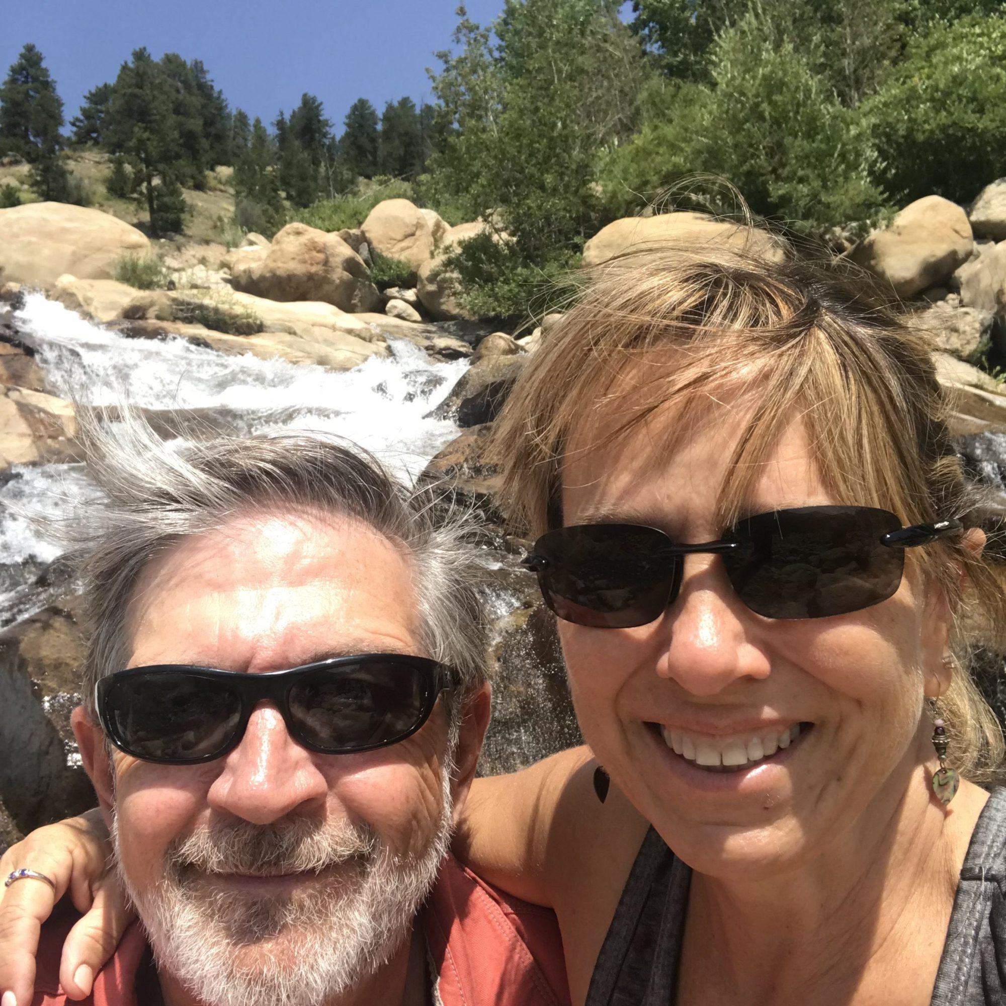 Selfie of a couple in Rocky Mountain National Park