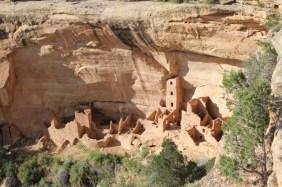 Ancient Puebloan ruins in Mesa Verde, Colorado