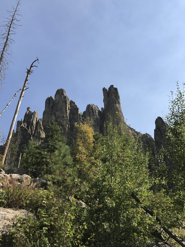 Cathedral Spires Black Hills hiking trail.