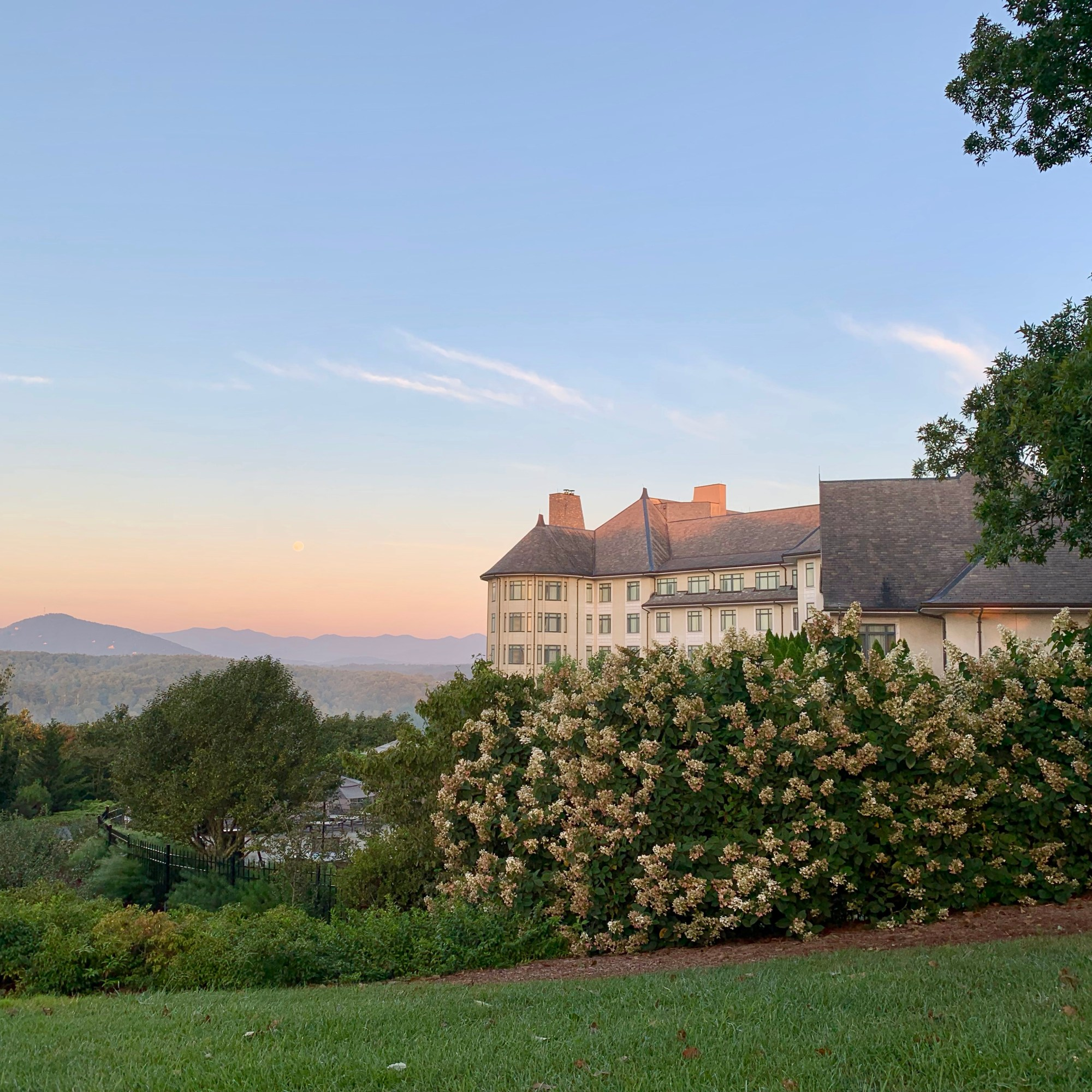 Sunrise over Inn at Biltmore