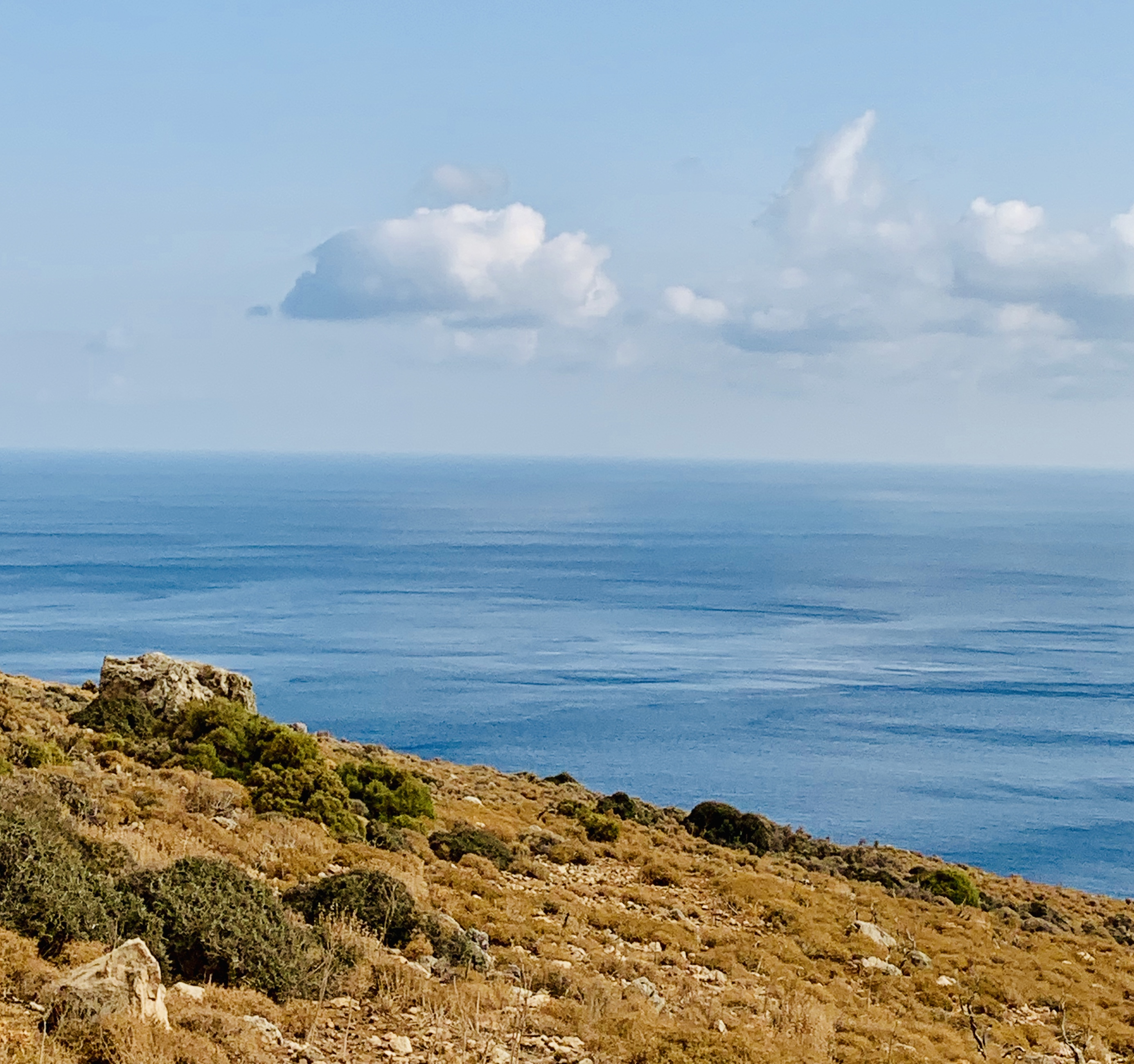 View from road to Balos Beach