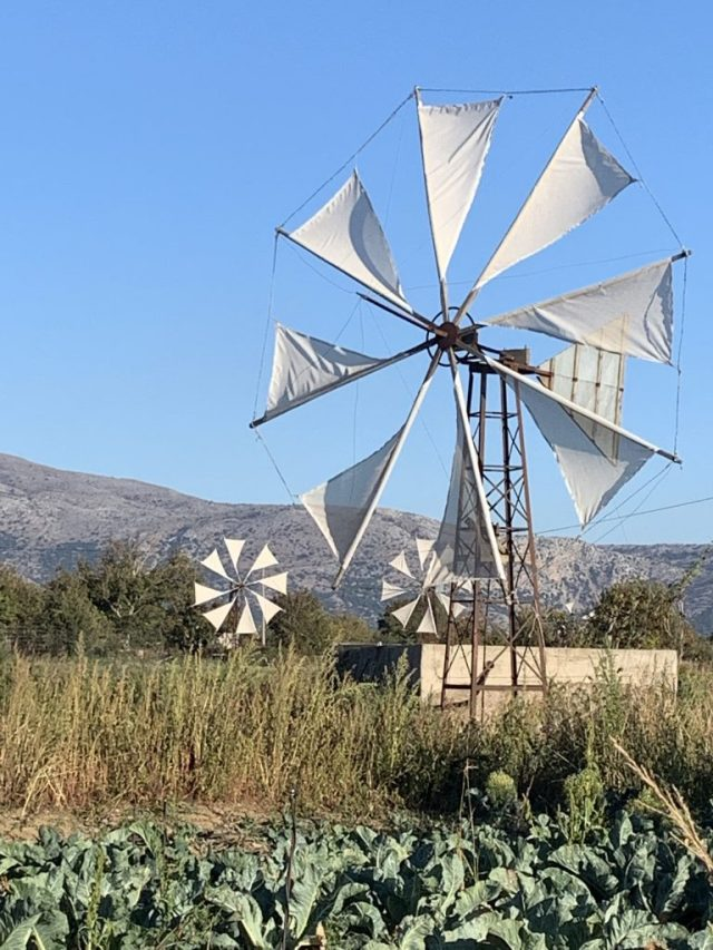 Windmills of Lasithi Crete Greece