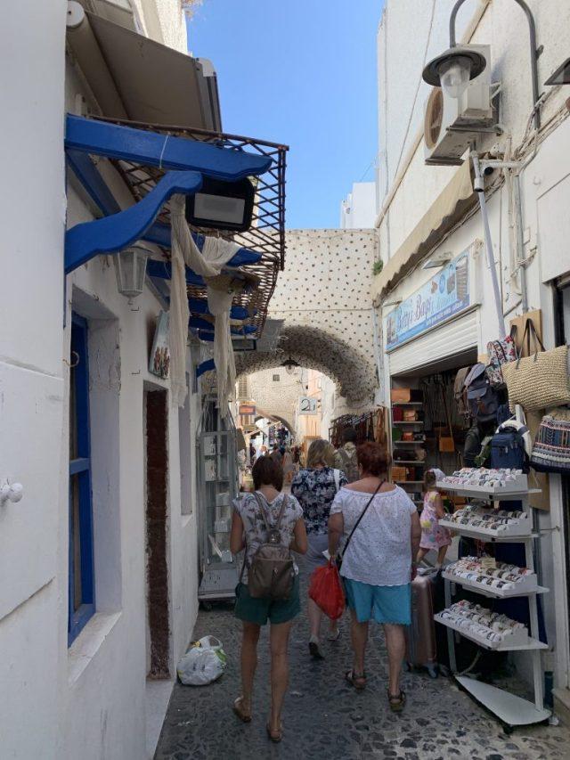 Streets of Fira Santorini Greece