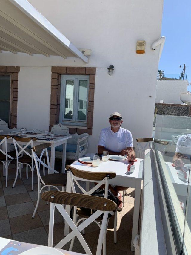 Restaurant at Santorini Greece