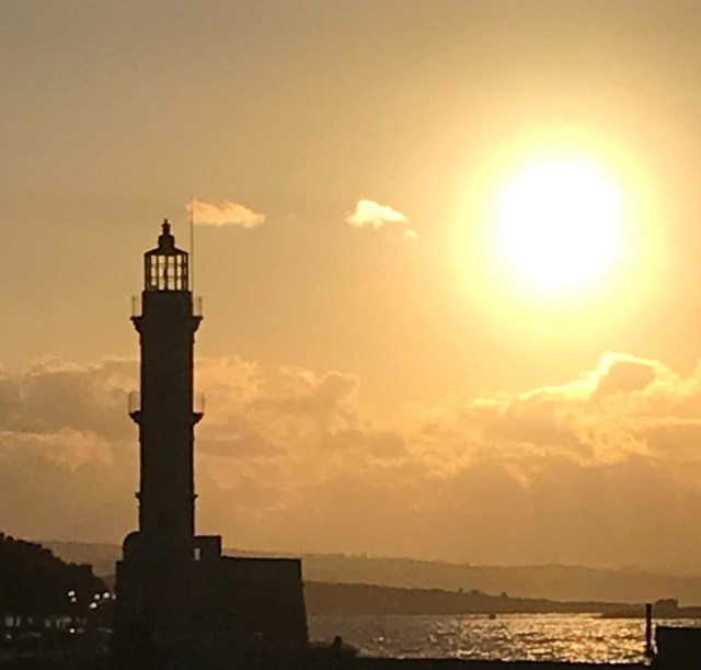 Chania Harbor lighthouse