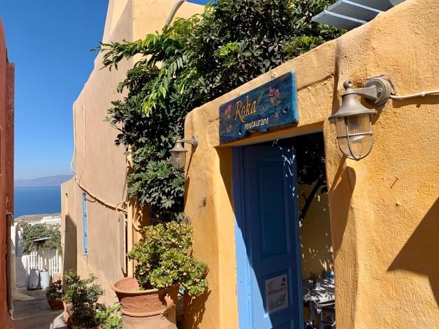 Roka Restaurant in Oia Santorini Greece