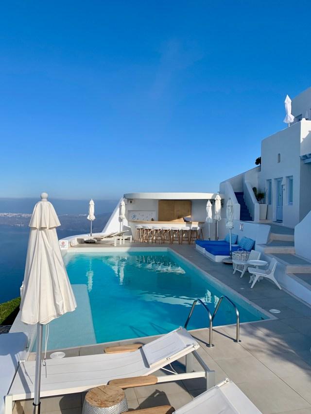 Astra Suites Pool Santorini Greece