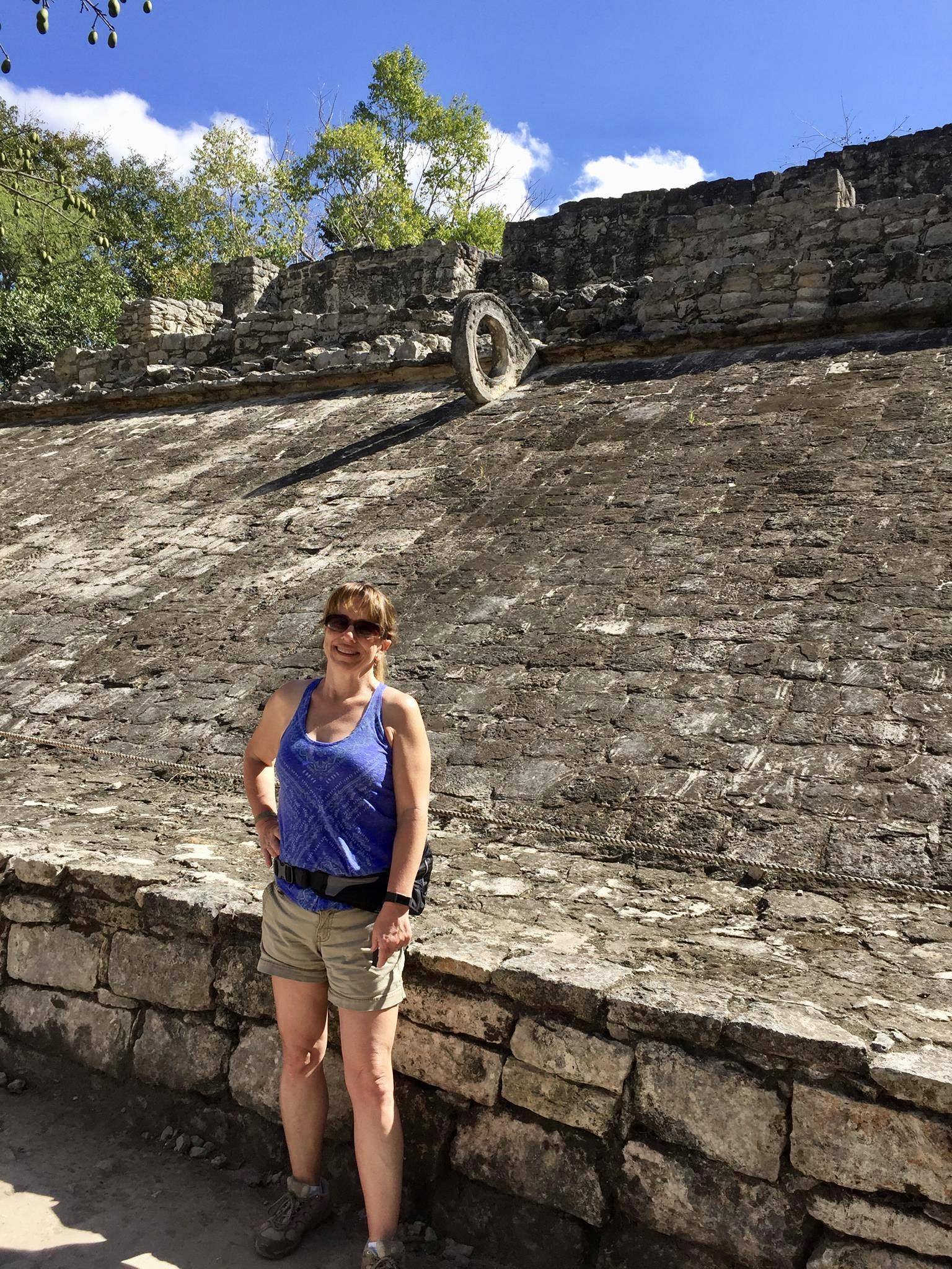 Climbing Coba Ruins Mexico