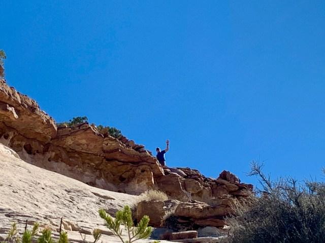 Climbing Aztec Butte