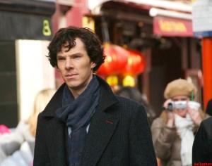 Benedict_Cumberbatch_filming_Sherlock