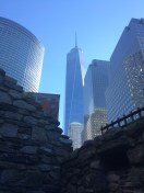 An Gorta Mor cottage with Freedom Tower in the background