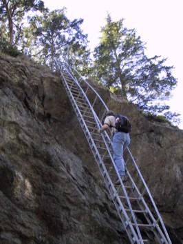 Jeremy ascends the ladder
