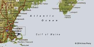 Map of Gulf of Maine
