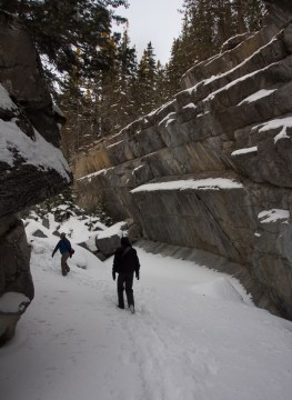 Walking through the slot canyon - crampons or MICROspikes are essential