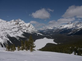 Peyto Lake and Mistaya Valley from upper viewpoint