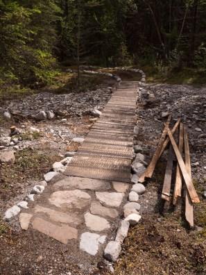 New Highline Trail bridge under construction