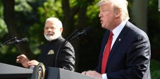 President Donald Trump and Prime Minister Narendra Modi