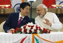 Prime Minister Shinzo Abe and PM Narendra Modi