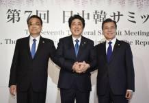 Premier is Li Keqiang, Sinzo Abe and Moon Jae In