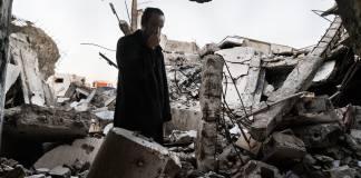 Building destroyed in terrorist attack