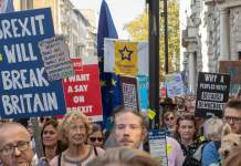 Protest against Brexit