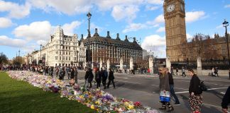 Parliament Square floral tributes