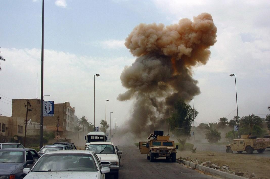 Car bomb exploding in Iraq