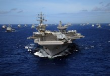 Nimitz-class aircraft carrier USS Ronald Reagan