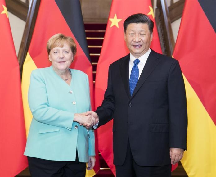 President Jinping and Chancellor Angela Merkel