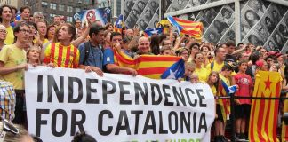 Protest for the independence of Catalonia