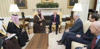 Donald Trump meets and Mohammed bin Salman