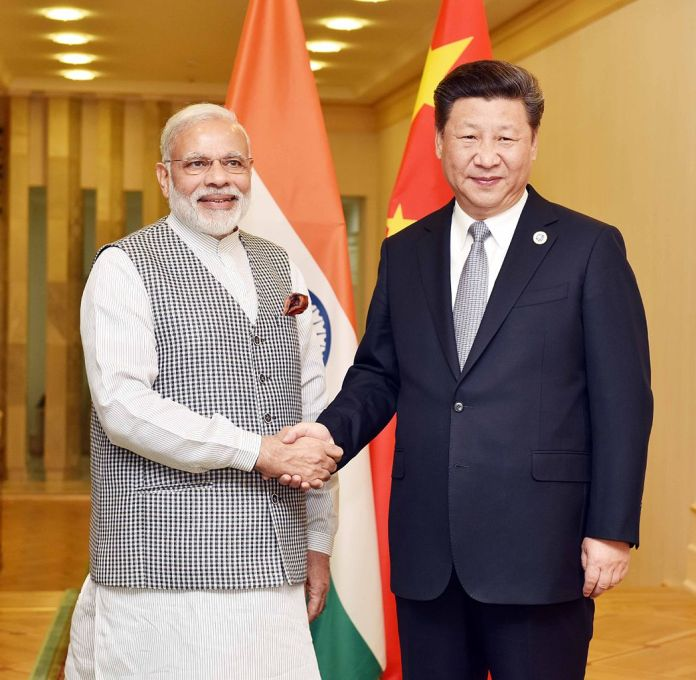 Minister Modi with Chinese President Xi Jinping