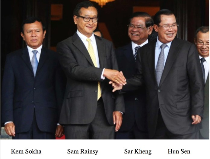 Kem Sokha, Sam Rainsy and, Hun Sen