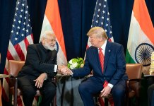 President Donald J. Trump and India's Prime Minister Narendra Modi