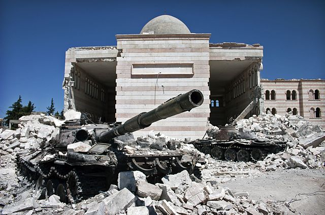 Syrian homes destroyed