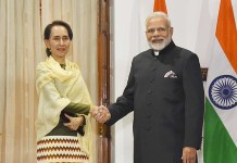 PM Narendra Modi and Aung San Suu Kyi