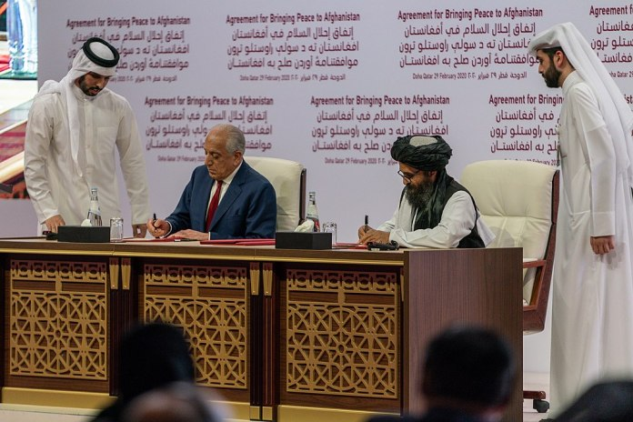 US Taliban Deal Signing Ceremony