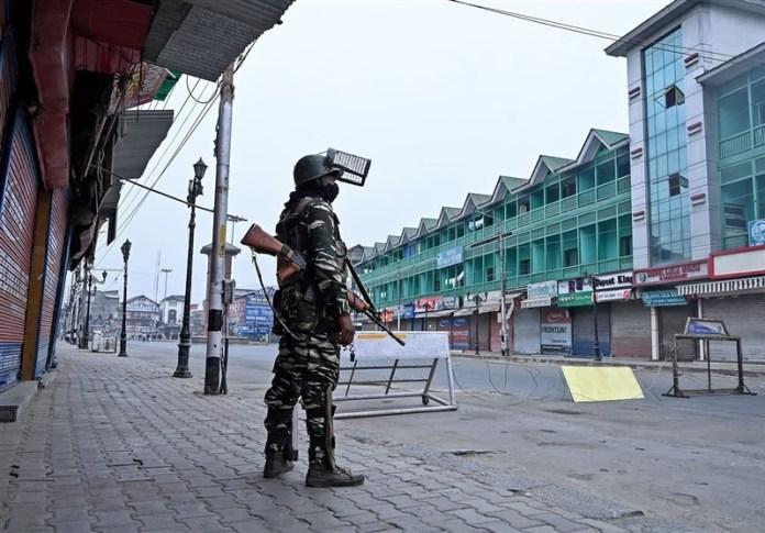 An Indian soldier in Kashmir