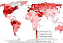 Coronavirus outbreak world map