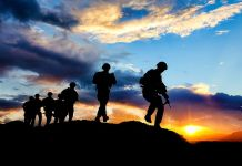 NATO troops returning to base in Afghanistan