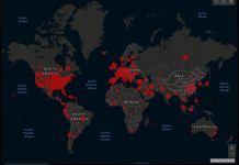 Johns Hopkins University covid-19 map
