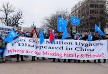 Demonstration for the rights of the Uyghurs in Berlin