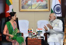 PM Narendra Modi and Suu Kyi
