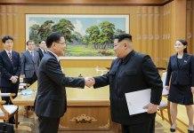 Chung Eui-yong and Kim Jong-un